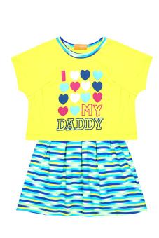 Đầm thun ngắn tay bé gái V.T.A.Kids BG50704XC (Xanh chuối)