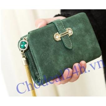 Ví nữ cầm tay ngắn CDVN01 (xanh rêu)