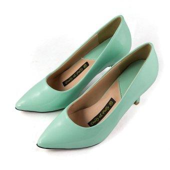Giày cao gót công sở Dolly & Polly (Xanh mint)