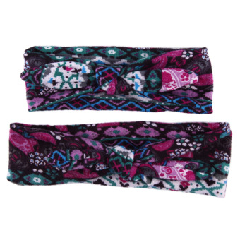 Stretch Knot Bow Bohemia Cotton Headbands - intl