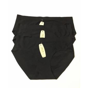 Combo 3 quần lót nữ không đường may thoáng khí (đen)