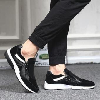 Giày lười Nam khóa kéo - 2613 (Đen)