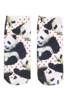 Bluelans Unisex 3D Small Panda Printed Patterns Anklet Socks Hosiery 1 Pair (Intl)