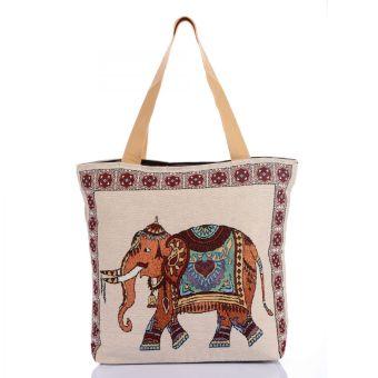 Túi xách thời trang thổ cẩm họa tiết con voi Hoian Gifts HA-2E