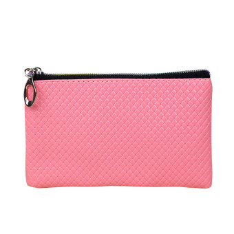 Women Fashion Leather Wallet Pink