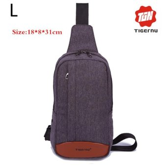 Lan-store Premium Quality Chest Bag-2017 Tigernu Brand Man Messenger Bags Casual Men's Travel Bags Chest Bag Pack Small Crossbody Men Women Shoulder Bag (Dark grey) - intl