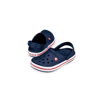 Dép và Xăng đan bé trai Crocs Crocband Clog K Navy/Red 204537-485 (Xanh dương)