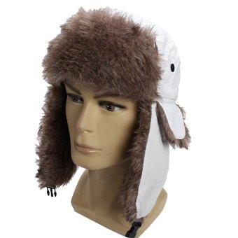 New Winter Women Men Earflap Warm Trapper Aviator Trooper Cap Russian Ski Hat White - intl
