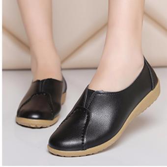 Giày mọi da đế mềm (Đen)