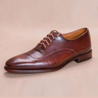 Giày Patina Brown Oxford Pierre Cardin - PCMFWLB055