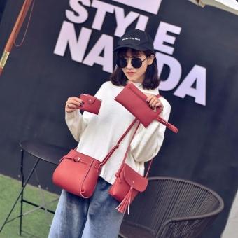 Bộ 4 túi xách thời trang nữ ( Đỏ)