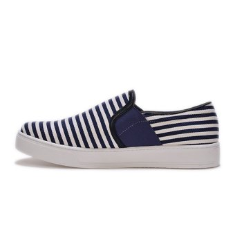 Giày Slip - On MUST Korea Sọc Xanh Dynamic Korea