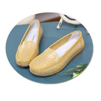 Giày nữ da bò 6651160V (Vàng)