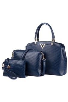 Bộ 3 túi xách chữ V cao cấp TTGG (Xanh)