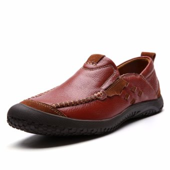 Jarma man's Low Cut shoes brougue shoes younger casual street walking shoes (Brown) - intl