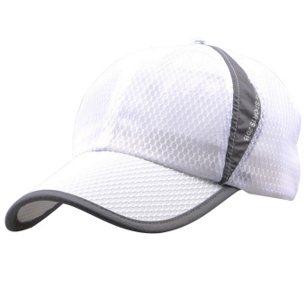 Unisex Summer Outdoor Sport Snapback Baseball Caps Adjustable Mesh Hat White