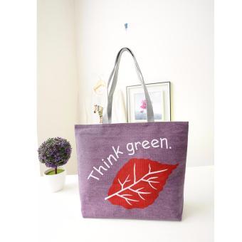 Túi xách tone vải đeo vai SPH-LEAF03(VIOLET)