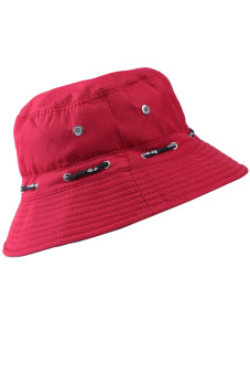 Unisex Adults Canvas Outdoor Activity Sun Protect Hat Red (Intl) - intl