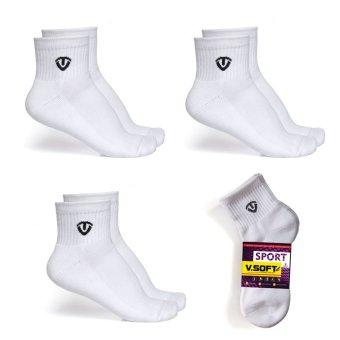 Combo 3 đôi tất vớ thể thao Venti V.SOFT cao cấp (trắng)