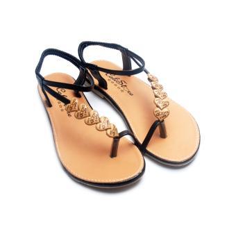 Giày xăng đan Lopez Cute D30 (Nâu Đen)