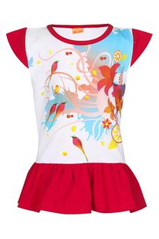 Áo thun dài bé gái V.T.A.Kids BG405303D (Trắng đỏ)