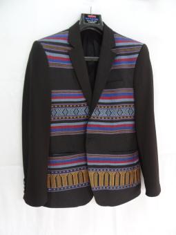 Áo vest nam vải Thổ Cẩm Veston Thắng