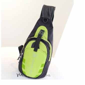 Túi Messenger đeo chéo 1 QUAI thể thao du lịch siêu nhẹ siêu bền ( xanh lá phối đen)
