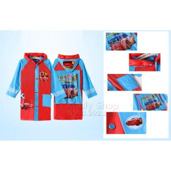 Áo mưa hình nhân vật Xe Mc Queen Car dành cho trẻ em và các bé nhiều size AMCAR6026B-XL