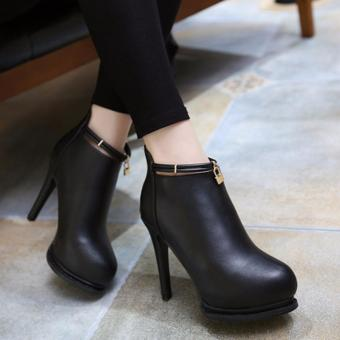 Giày boot nữ cổ ngắn bít mũi xinh xắn GBN136