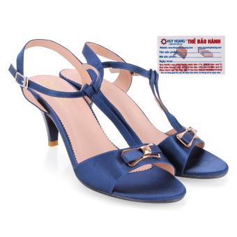HL7053 - Giày xăng đan cao gót nữ huy hoàng màu xanh