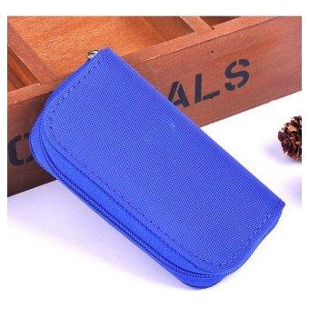 Moonar Card Holder SD CF SDHC MicroSD Memory Card Bag Case (Blue)