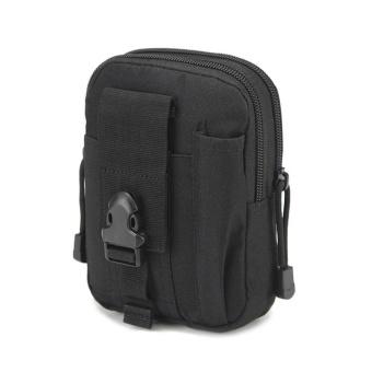 Camping Climbing Outdoor Phone Bag Waist Hip Belt Wallet Purse Case Pouch BK - intl