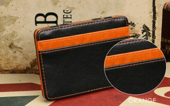FLAMA Block Resilient Wallet Money Clip for Unisex Horizontal(Orange) - intl