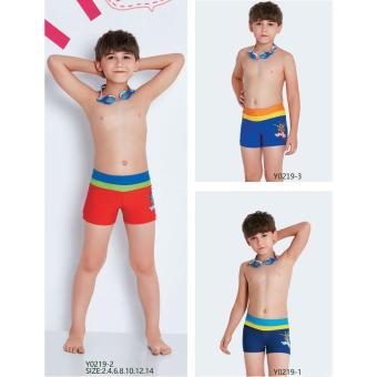 Quần bơi trẻ em Yingfa Y0219-2 (đỏ cạp xanh)