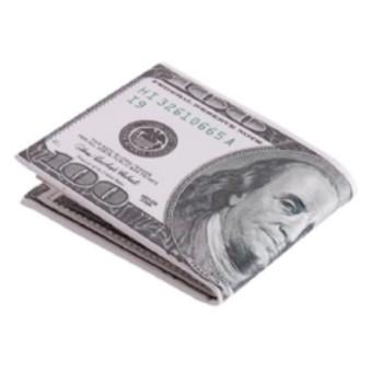 Ví da cao cấp in hình tiền 100 USD.