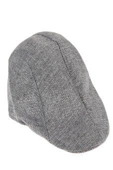 HKS Mens Vintage Flat Cap Peaked Racing Hat Beret Country Golf Newsboy(Grey) - intl