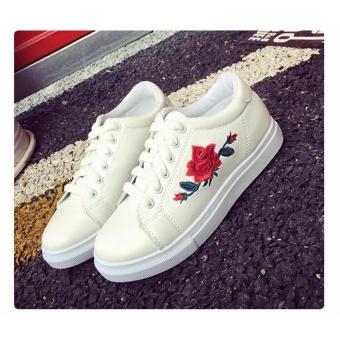 Giày thể thao nữ thời trang thêu hoa (trắng , đen )