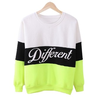Fancyqube Hoody Women Clothing Casual Pullovers Long Sleeve White Green - Intl