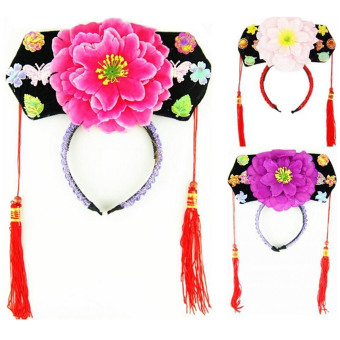 Vococal Chinese Japanese Oriental Princess Girls Peony Hairband Hair Accessories Hat Quantity 1 Random Color