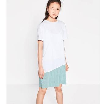 Đầm Zara tương phản váy ánh kim