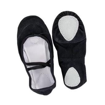 BolehDeals Ladies Canvas Ballet Dance Shoes Slippers US Size 6# 9 1/3 Inch - Black - Intl
