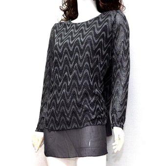 Áo sweater dệt kim dáng dài MiDu Fashion (Xám)