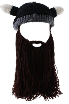 LALANG Handmade Hat with Beard Pointed (Brown)