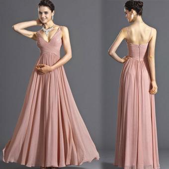 Đầm maxi với kiểu dáng độc đáo phối màu nhẹ toát lên vẻ sang trọng 217(hồng)