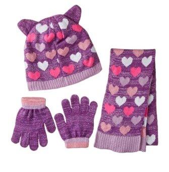 Bộ mũ len, găng tay, khăn choàng cho bé gái 3-10 tuổi Toby & Company Girls' Critter Inspired 3 Piece Set (Mỹ)