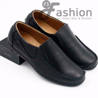 Giày Mọi Nam Đơn Giản Da Thật Có Mũi Được Cách Điệu Độc Đáo GM278 (Đen)