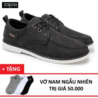 Giày Sneaker Da Thời Trang Nam Zapas – GS034 (Đen) + Vớ Nam