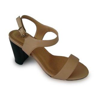 Giày sandal nữ cao gót vuông thon nhọn 9f đế pháp
