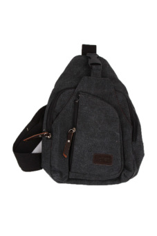 Fancyqube Multifunctional Casual Outdoor Men's Sports Canvas Bag Black