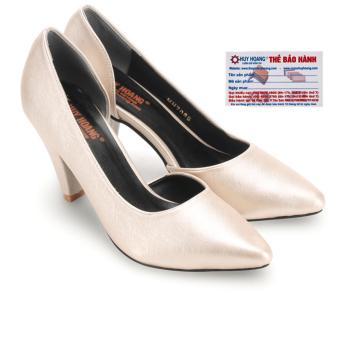 HL7088 - Giày nữ Huy Hoàng cao cấp xẻ hông đế 7cm màu kem